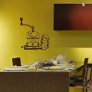 Moulin À Café Pas Cher : sticker d co moulin caf et tasses pas cher stickers muraux discount stickers muraux ~ Nature-et-papiers.com Idées de Décoration