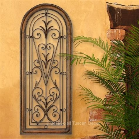 tuscan arched window mediterranean wall grille panel 4 ft ebay