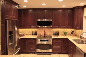 Kitchen Backsplash Ideas Cherry Cabinets by Shaker Door Style Custom Cherry Kitchen Cabinets With A