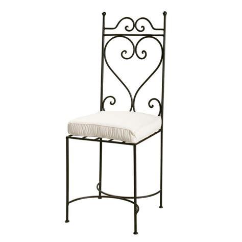 chaises fer forg chaise en fer forgé marron toscane maisons du monde