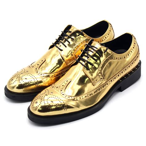 Shoes For by Gold Leather Shoes Classic Bullock Mirror Carved Mens