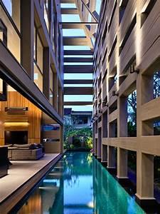 Indoor, Outdoor, Courtyard, Swimming, Pool, Runs, Deep, Into, A