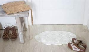 Tapis En Corde : diy fabriquer un tapis pour l 39 entr e comment fabriquer un tapis en corde ~ Teatrodelosmanantiales.com Idées de Décoration