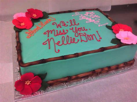 hawaiian themed cake main  custom cakes