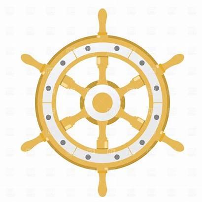 Wheel Steering Clipart Boat Clip Steer Vector