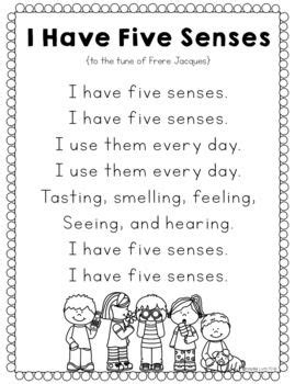five senses unit transition songs childcare and activities 5 | eae91e8fb213281b3ec21e81f9faa319