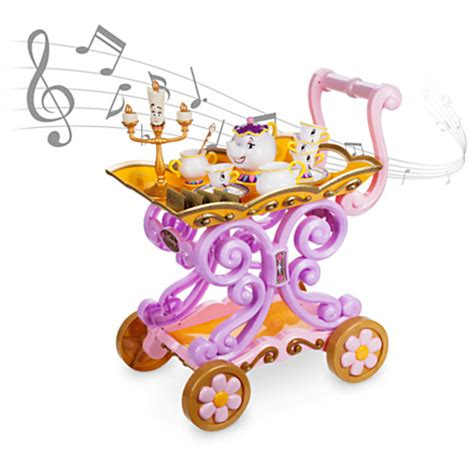 creamer and sugar bowl set and the beast be our guest singing tea cart play