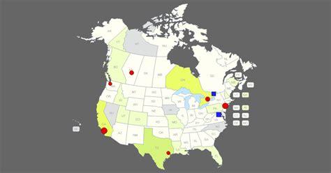 interactive  canada map clickable states provinces