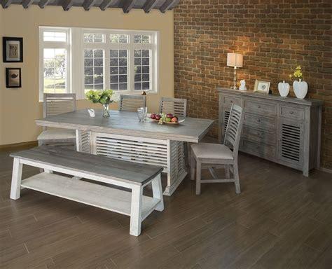 stone trestle dining room set  white gray  ifd