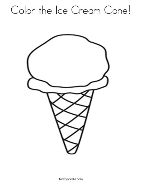 color  ice cream cone coloring page twisty noodle