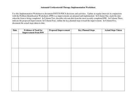 15 Best Images Of Action Plan Worksheet Template  Wellness Recovery Action Plan Worksheets