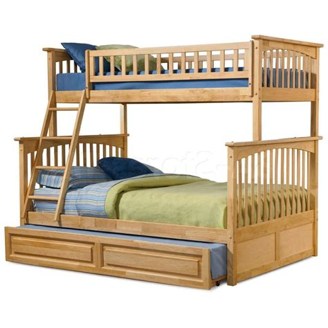 bunk beds varnished wooden oak bunk bed built in stair as storage as