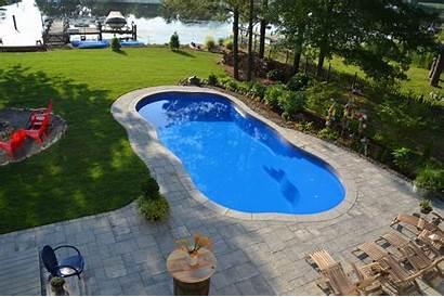 Pools Pool Viking Fiberglass Laguna Freeform River