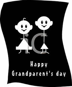 A Silhouette of a Hand Made Greeting For Grandparents Day ...