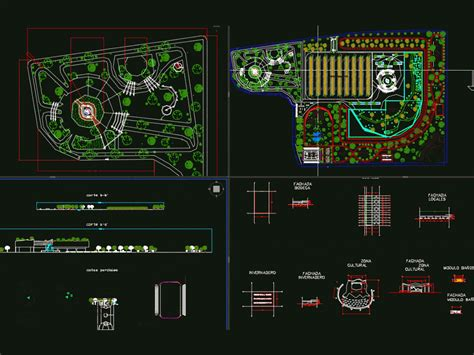assembly plant  square gardens dwg block  autocad