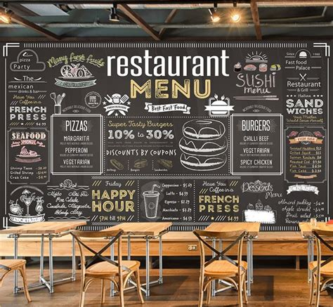 bacaz vintage menu bill wallpaper mural  coffee cafe