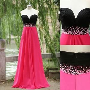 Pink And Black Bridesmaid Dresses - Dress FA