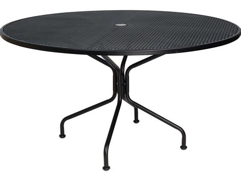 woodard wrought iron 54 dining 8 spoke table with