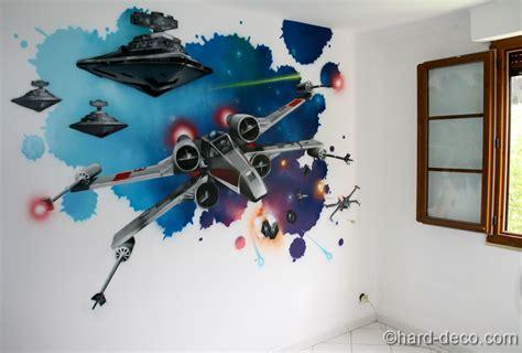 chambre wars wars décoration graffiti deco