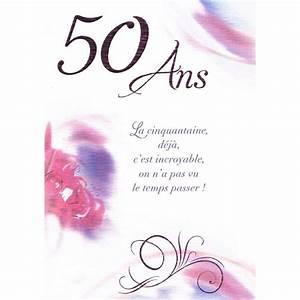 Faire Part Anniversaire 50 Ans : carte anniversaire 50 ans faire part anniversaire gratuit ~ Edinachiropracticcenter.com Idées de Décoration