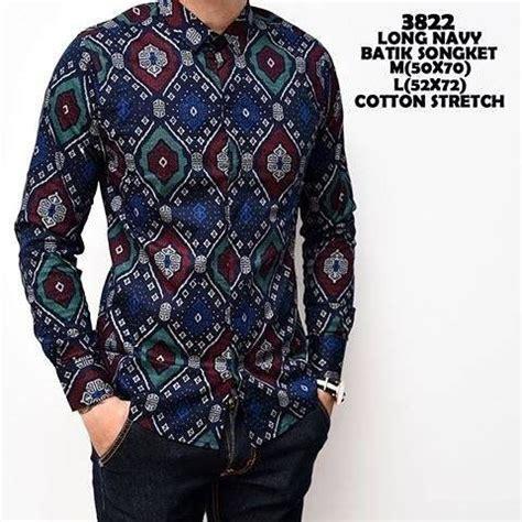 jual baju koko modern kemeja batik pria panjang kerja