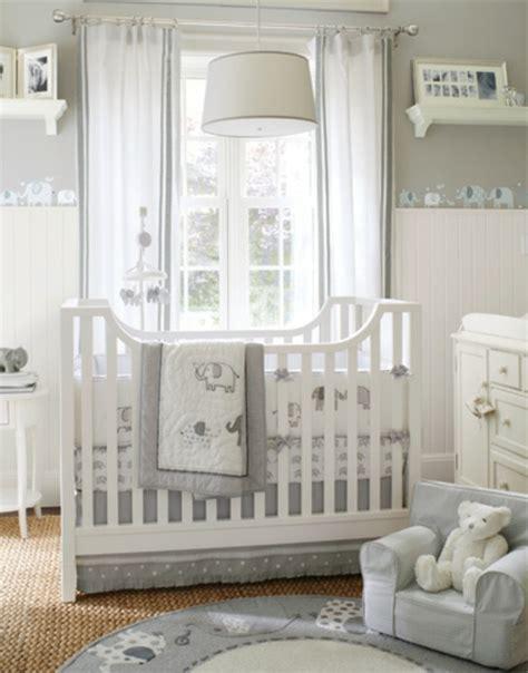 chambre bébé blanche et grise le design de la chambre de bébé modernе en blanc archzine fr