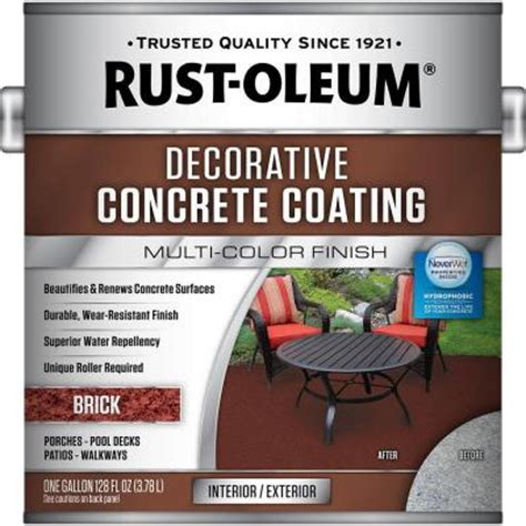 Rust Oleum Decorative Concrete Coating Slate by Rust Oleum 1 Gal Brick Decorative Concrete Coating 2