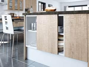 Porte De Placard De Cuisine : meuble cuisine porte coulissante ~ Teatrodelosmanantiales.com Idées de Décoration