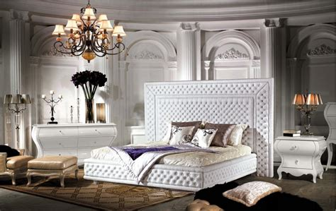 classic  elegant bed  luxury bedroom furniture
