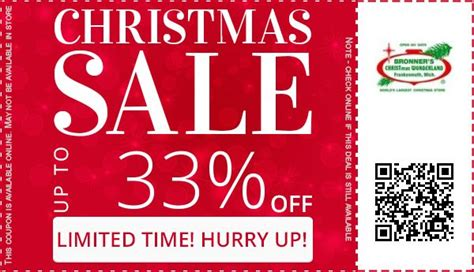 Frontgate Christmas Trees by Bronner S Christmas Wonderland Coupons December 2017