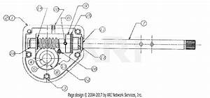 Mtd 31ae663h190 Snow Boss 1050  1998  Parts Diagram For Worm Gear And Housing