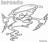 Tornado Coloring Pages Angry Cartoon Printable Outline Instrument Body Categories sketch template