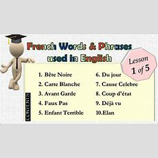(lesson 15) Top50 French Words And Phrases Used In English Youtube
