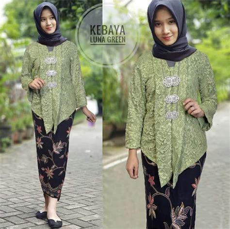 setelan baju kebaya brukat  rok span batik muslim ryn