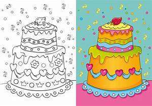 Dessin Gateau D Anniversaire : coloriage imprimer un g teau d 39 anniversaire ~ Louise-bijoux.com Idées de Décoration