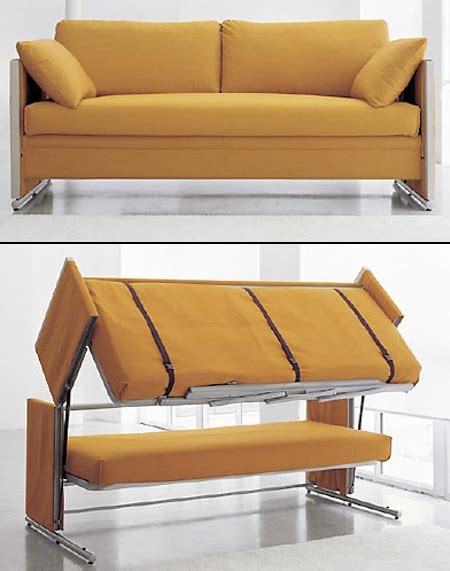 couches that turn into beds transforming sofa turns into a bunk bed techeblog