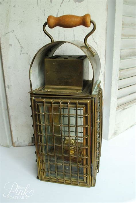 vintage wedge nautical brass lantern  pinterest