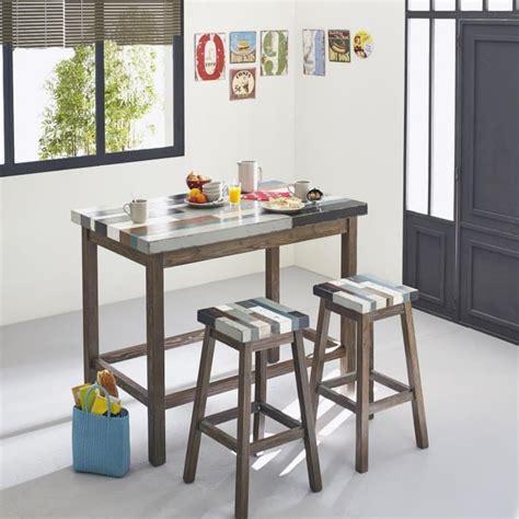table cuisine bar table haute avec rangement pour cuisine maison design
