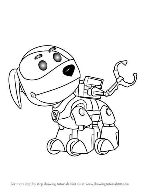 learn   draw robo dog  paw patrol paw patrol
