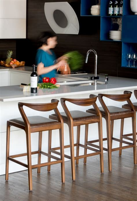 Officlever modern bar stool set of 2 barstools heigh adjustable swivel bar stool counter height pu leather home kitchen stools hydraulic dining room chair bar chairs, black 4.2 out of 5 stars 39 $85.99 $ 85. 10 Best Modern Counter Stools - Life on Elm St - Flax & Twine