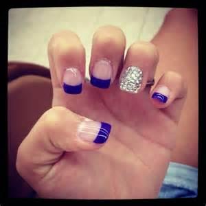 Royal Blue French Tip Nails