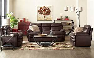 marty genuine leather sofa brown the brick With living room furniture the brick