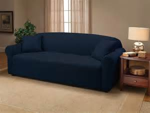 navy blue jersey couch stretch slipcover furniture covers