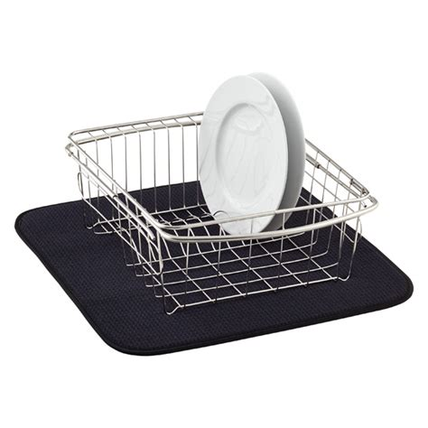 kitchen sink drying mats black dish drying mat the container store