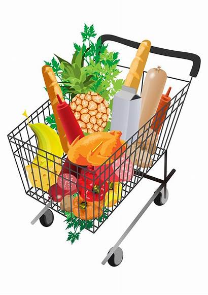 Shopping Grocery Cart Clipart Supermarket Transparent Background