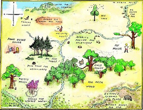 Map Of Hundred Acre Wood