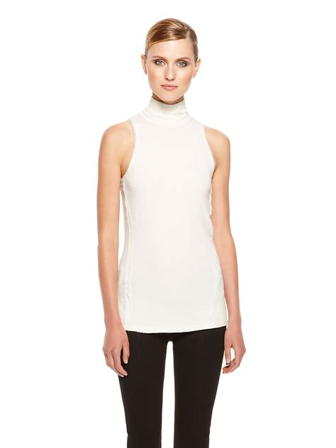 sleeveless turtleneck sweater donna karan york sleeveless turtleneck sweater in