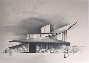 Mid Century Modern Home Sketch by Architect Richard B ...
