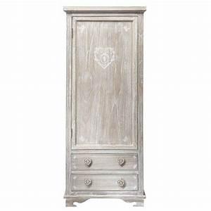 greyed paulownia wood closet w 75cm With camille maison du monde