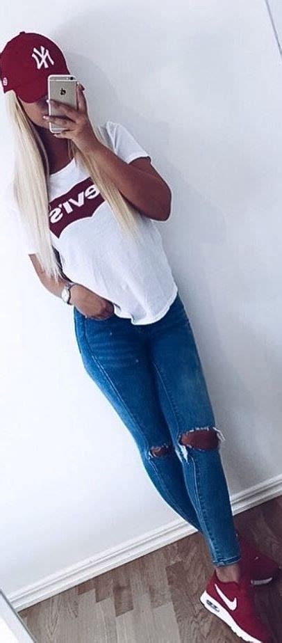 Best 25+ Sporty summer outfits ideas on Pinterest   Womenu0026#39;s sporty outfits Womens converse ...